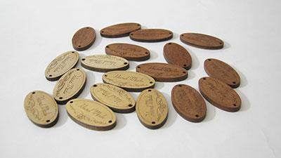 ป้ายไม้ handmade รุปวงรี